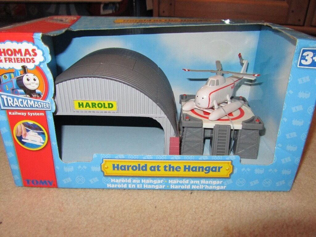 Tomy Thomas Amp Friends Trackmaster Harold At The Hanger