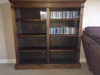 Large Antique Dark Wood Bookcase