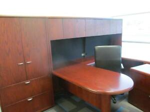 Surplus Office Furniture ***NO REASONABLE OFFER REFUSED** Office Desk, file cabinet, table, chair, credenza, white board