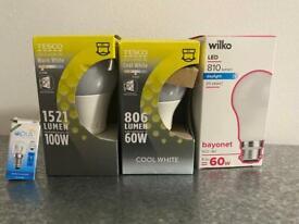 3 LED bayonet and 1oven bulb