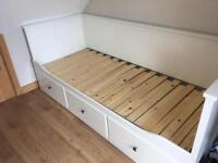 IKEA Hemnes day bed frame single double white storage drawers