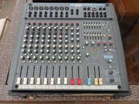 Soundcraft spirit powered mixer. Lexicon effects. 12 channels