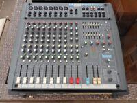 Soundcraft spirit powered mixer. Lexicon effects. 12 channels