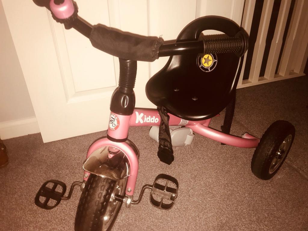 3b2b5c29cf6 Kiddo Smart Trike Kids 4-in-1 3 Wheel Childrens Tricycle - Pink