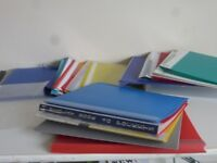 Display pockets, folders, files, transparent sleeves