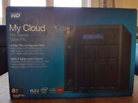 Brand new WD My Cloud PR4100 4 Bay RED NAS 2 Year Warranty 8TB 4 X 2TB Server; PLEX streaming