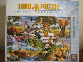 1000 PIECE JIGSAW PUZZLE - WILD ANIMALS