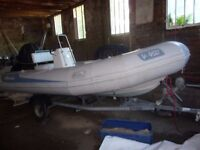 Avon Adventure 450 Rib with 50HP Outboard