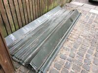 Roof sheets, 10 no 3050mm x 1180 dark green