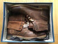 Men's brown leather Bugatti boots. Size 9.