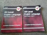 School Books- 3 English AS/A2 level revision ad practise books+GCSE Anthology