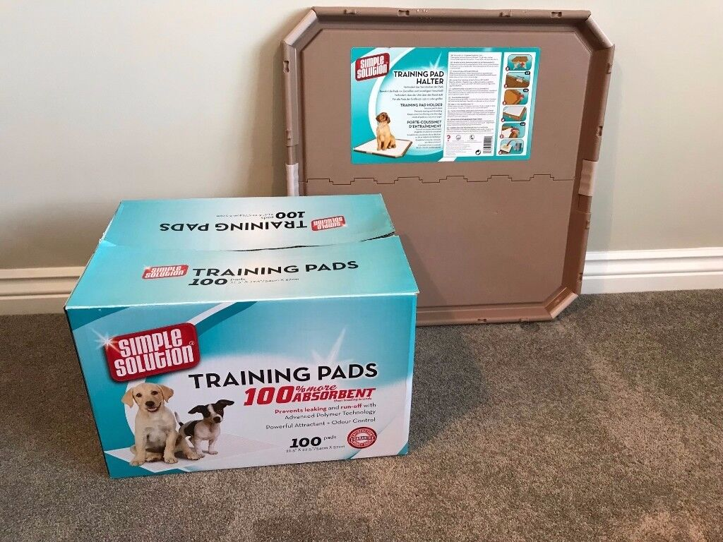 Simple Solution Puppy Training Pad Holder and 24 Pads