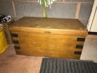 Wooden chest, storage box coffee table wooden trunk