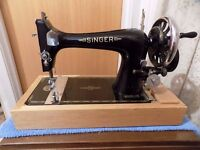 Singer 27K Hand Operated Sewing Machine F1320336 with Boat/Shuttle Bobbin