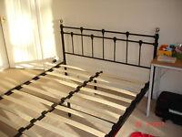 Oxford King Size Bedframe (5ft) Black & Chrome