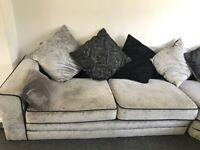 Corner sofa crushed velvet right hand