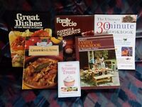 Random job-lot of cookery books + one set of 50 cookery cards (Yummy Treats).
