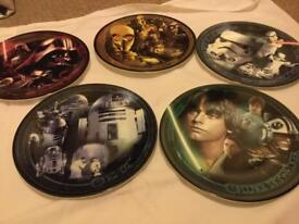 5 Limited edition Star Wars plates