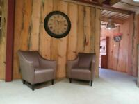 2 Art-Deco Bespoke Armchairs