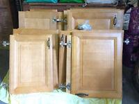 Doors for Kitchen Cupboards, Light Oak, Various sizes