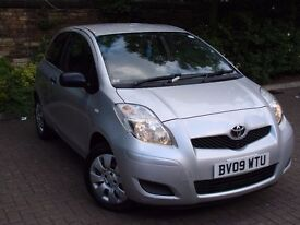 EXCELLENT HATCHBACK! 2009 TOYOTA YARIS 1.0 VVT-i T2 3dr,FULL SERVICE HISTORY,1 LADY OWNER,1 YEAR MOT