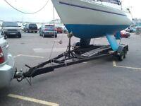 Boat Trailer for bilge keel yacht