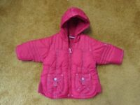 Baby Girl 3-6 months NEXT warm red hooded coat