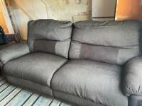 DFS 3 and 2 seater power recliner sofas