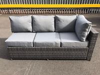 3 seater corner sofa for garden or patio - grey