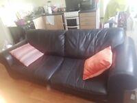 Pure leather sofa £70.