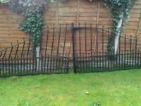 Large iron gates.