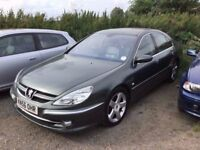56REG TOP OF THE RANGE PEUGEOT 607 AUTOMATIC FULLY LOADED LEATHER ALL THE GADGETS RARE CAR IN VGC