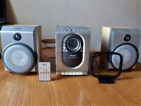 PHILIPS MC150 MICRO HI-FI SYSTEM With Radio, CD Player & Cassette Player,2 Speakers &Remote Control