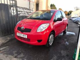 Toyota Yaris 1 Litre Petrol Manual 3 Door Hatchback Red Stunning Car FSH