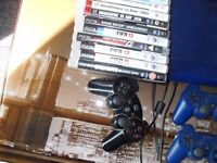 ps3 500gb with 3 controllers and 13 games