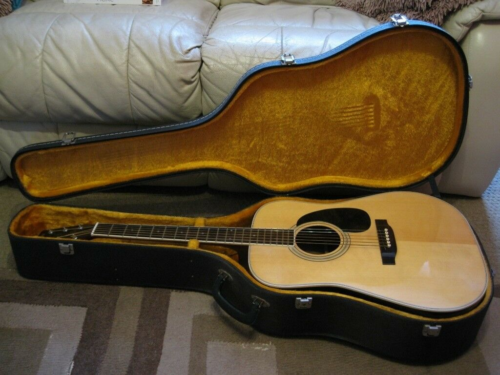 vintage daion yamaki yw 20 dreadnought acoustic guitar with hard case made in japan in havant. Black Bedroom Furniture Sets. Home Design Ideas