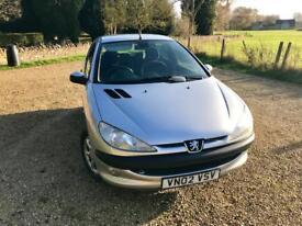 2002 Peugeot 206 GLX Petrol 1.6 - 96K miles - Mot Nov 2018 -110 BHP - 1 Month Warranty