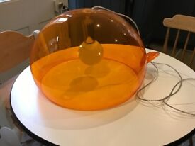Kartell orange lamp shade