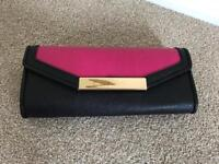 Pink & Black clutch bag