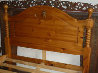 fabulous solid pine king size bed frame with stunning large head board and foot board