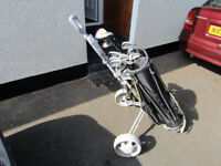 dunlop golf clubs with bag and cart lost interest