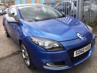 RENAULT MEGANE 2.0 TCE GT COUPE PETROL MANUAL 2010 PANORAMIC HALF LEATHER 2 OWMERS SATNAV TOMTOM