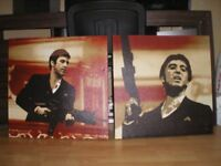Pair Of Al Pacino - Scarface Movie Scenes - Canvas Pictures