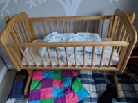 Mothercare Crib with Mattress and Bumper