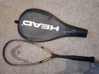 Squash Racket HEAD intelligence i110, rarely used, good condition