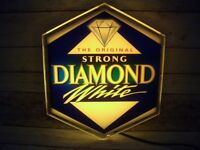 Vintage Original Strong Diamond White Cider Wall Light Advertising Sign Pub Bar