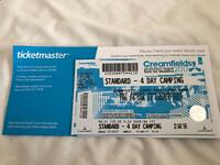 Creamfields 4 day camping ticket