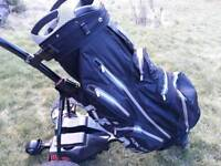 Motocaddy S7 Remote golf trolley and H2NO waterproof golf bag