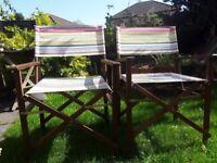 Garden directors chairs