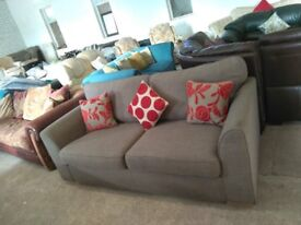 Lovely Grey Fabric sofa settee couch Delivery Poss